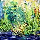 Marsh, original oil painting on canvas by Regina Valluzzi