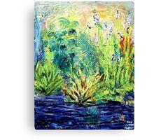 Marsh, original oil painting on canvas Canvas Print