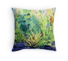 Marsh, original oil painting on canvas Throw Pillow