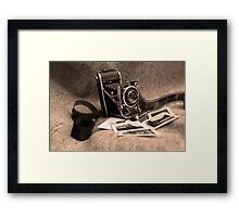 Old camera Framed Print