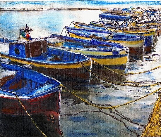 Procida Fishing Boats End of The Day by Randy Sprout