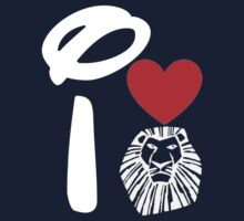 I Heart The Lion King (Inverted) One Piece - Short Sleeve