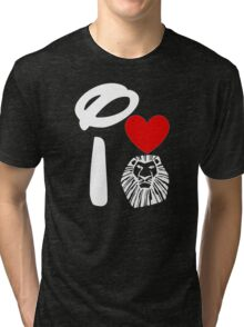 I Heart The Lion King (Inverted) Tri-blend T-Shirt