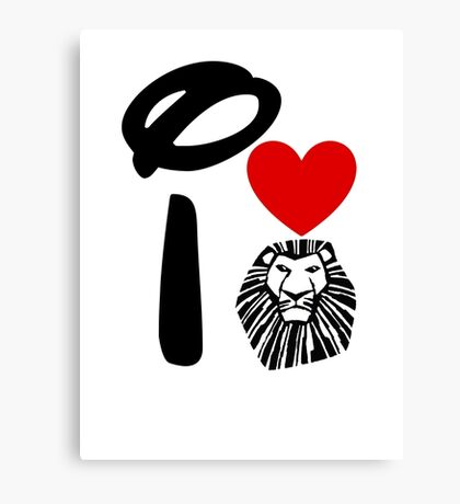 I Heart The Lion King Canvas Print