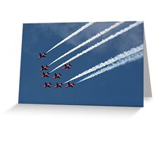 The Red Arrows diamond formation Greeting Card