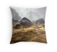 Coire nan Lochan, a corrie of Bidean nam Bian Throw Pillow