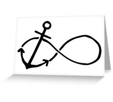 Anchor Infinity Greeting Card