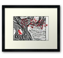 Wisdom of Trees - Red Raven Framed Print