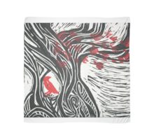 Wisdom of Trees - Red Raven Scarf