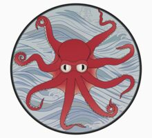 Octopus Red Kids Clothes