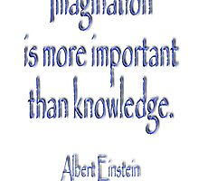 Albert Einstein, Imagination is more important than knowledge.  by TOM HILL - Designer
