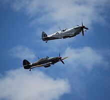 BBMF fly past  by Carl Wass