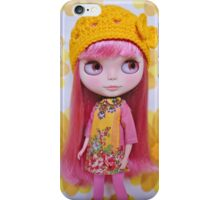 Zahra in pink and yellow iPhone Case/Skin