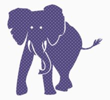 Purple Patterned Pachyderm Elephant Baby Tee