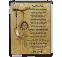 """Live Your Life""  by Chief Tecumseh dream catcher iPad Case/Skin"