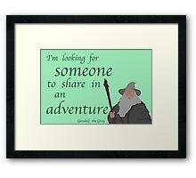 The Hobbit Gandalf Adventure Framed Print