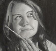 Monochromatic Self Portrait by heartmelinda