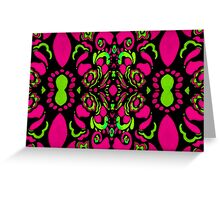 Psychedelic Retro Ornament Greeting Card