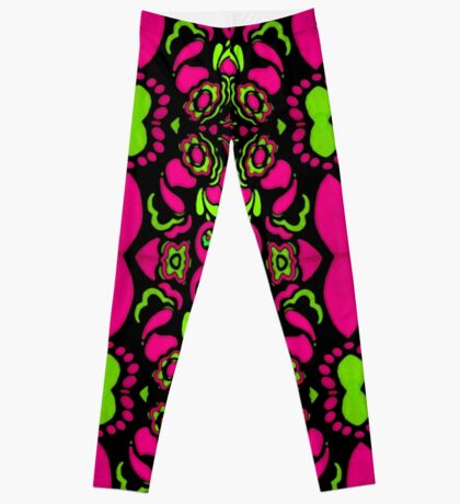 Psychedelic Retro Ornament Leggings