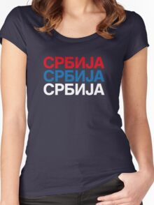 SERBIA Women's Fitted Scoop T-Shirt