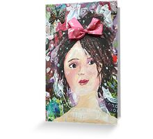 Inner Girly Girl - Bows and Butterflies Greeting Card