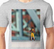 A little photographer on a bridge Unisex T-Shirt