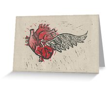 As the heart flies Greeting Card