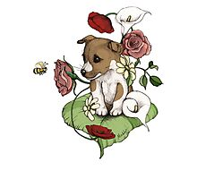 Puppy Bouquet Photographic Print