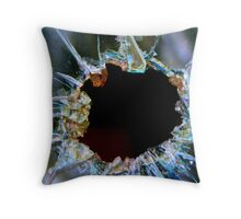 Bullet Hole Throw Pillow
