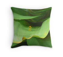 Golden Poison Dart Frog Throw Pillow