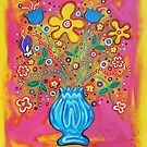 'Flowers in a Blue Vase' by Jerry Kirk