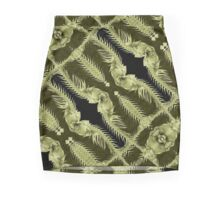 Exclusive Ornament Collage Artwork Mini Skirt