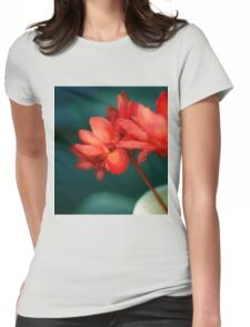 Red Flowers Macro Womens Fitted T-Shirt