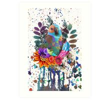 Nature Beauty Colour Splash Art Print