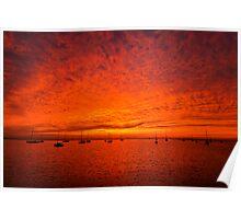 Western Beach Sunrise - Geelong Victoria Poster