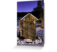 Outhouse in the Snow Greeting Card