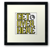 Mortal Kombat - Get Over Here Framed Print