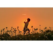 Golden Childhood Photographic Print