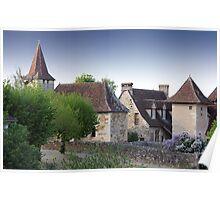 Rooflines of Carennac, France Poster