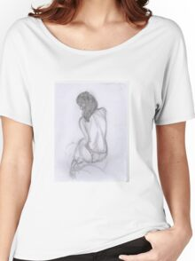 women in knickers line drawing Women's Relaxed Fit T-Shirt
