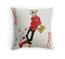 Joker Card Throw Pillow