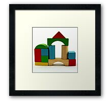 Nostalgic Toys Series - Blocks Framed Print