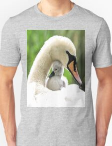 Mother and Baby Swan Unisex T-Shirt