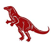 Red T-Rex Photographic Print