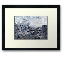 Four Presidents Framed Print