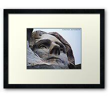 Jefferson on Rushmore Framed Print