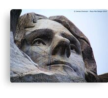 Jefferson on Rushmore Canvas Print