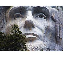 Lincoln on Rushmore Photographic Print