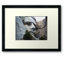 Roosevelt on Rushmore Framed Print