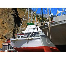 Boats In Drydock Photographic Print